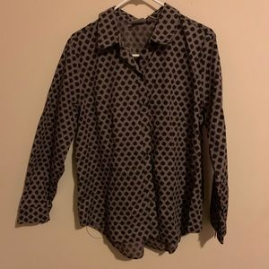 long sleeve shirt with buttons for women